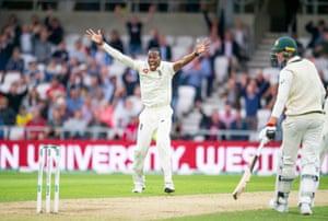 England's Jofra Archer celebrates