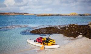 paddleboard Hebrides