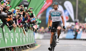 Team Sky's Ian Stannard takes the acclaim after winning the stage. Julian Alaphilippe looks set to win the Tour of Britain when it concludes in London.
