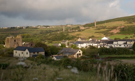 Disused mines in Redruth Cornwall, which has some of the highest levels of poverty in the UK.