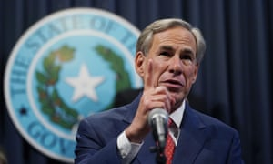 Greg Abbott in Austin in September. The Republican governor's order quickly drew outcry and accusations of voter suppression.