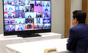 Shinzo Abe taking part in the G20 leaders summit