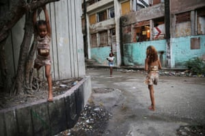 Children play in a favela