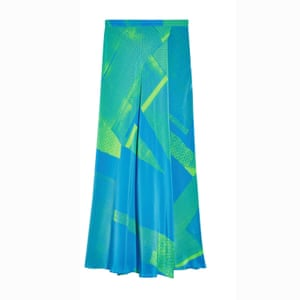 Blue/green silk, £95, topshop.com.