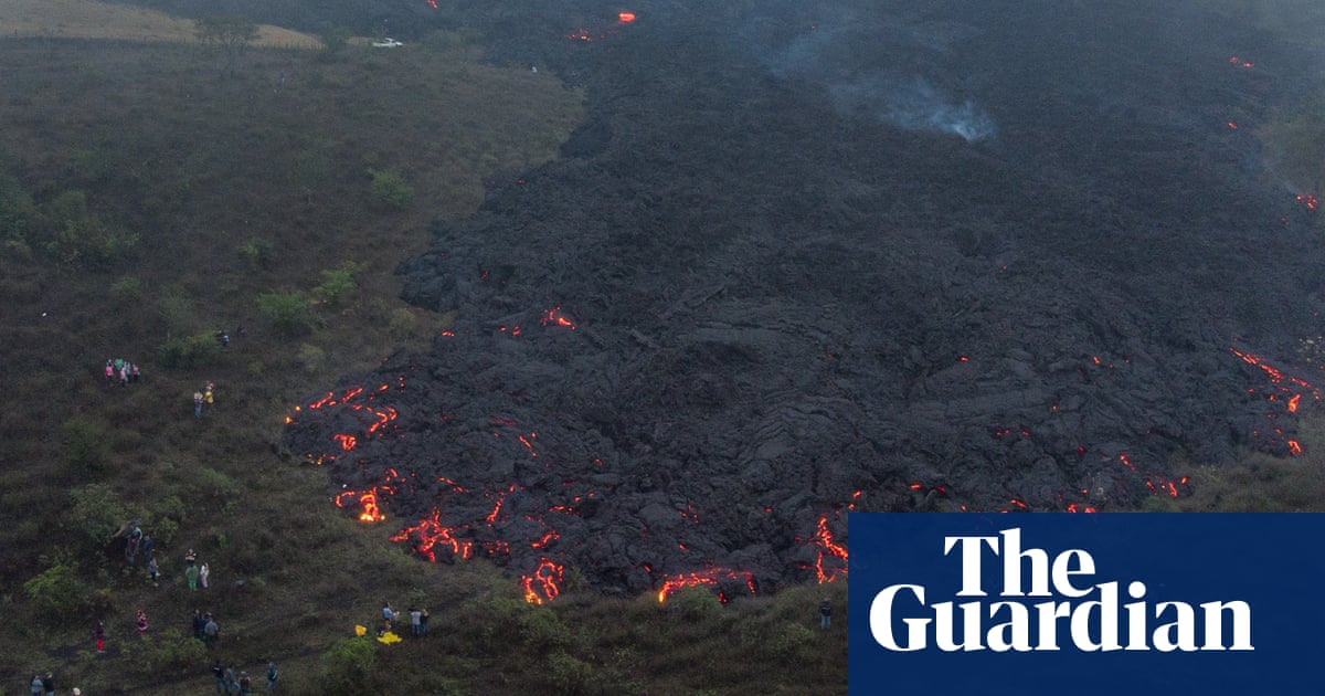 'We need help': towns at risk as lava flows from Guatemala's Pacaya volcano