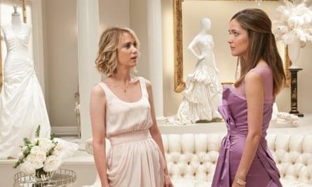 Kristen Wiig, left, with Rose Byrne in Bridesmaids