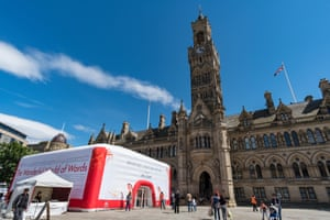 City Hall during the Bradford literature festival in July 2017.