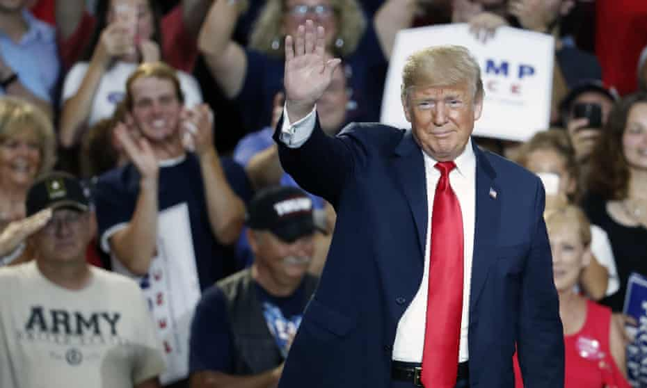Donald Trump at a rally in Ohio earlier this month. Polling has shown that the Republican base is still overwhelmingly in favor of Trump.