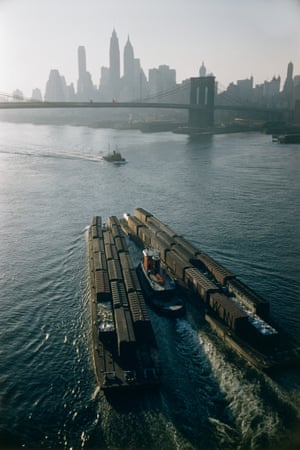 Tugboat and barges, New York, 1953