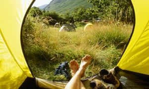 National Trust campsite at Wasdale Head Cumbria
