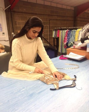 Pattern-cutting apprentice Razina Bapu