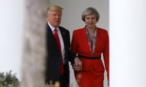 Theresa May is now facing a clamour for condemnation of the US president.