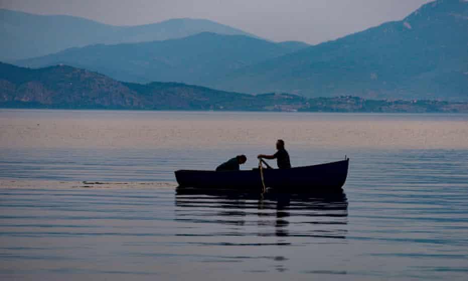 Dusk on Lake Ohrid.