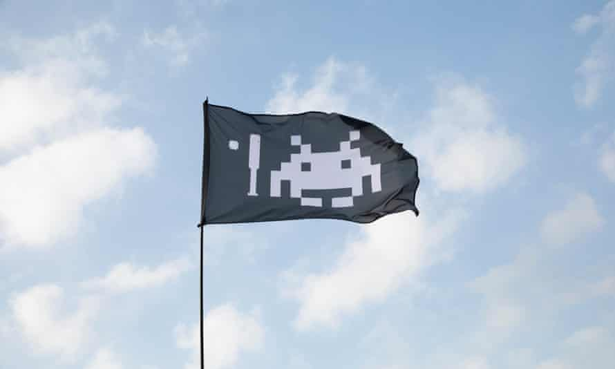 Spaced out: Steve's flag