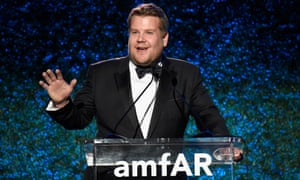 James Corden hosting the amfAR Gala in Los Angeles on Friday.