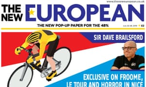 The New European: has made a profit from the start, according to its editor.
