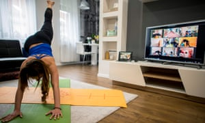 Streaming The Flow Next Yoga Class I Ll Turn My Webcam On Life And Style The Guardian