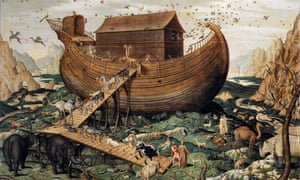 Rain of biblical proportions as depicted by Simon De Myle in his painting Noah's Ark on Mount Ararat, 1570.