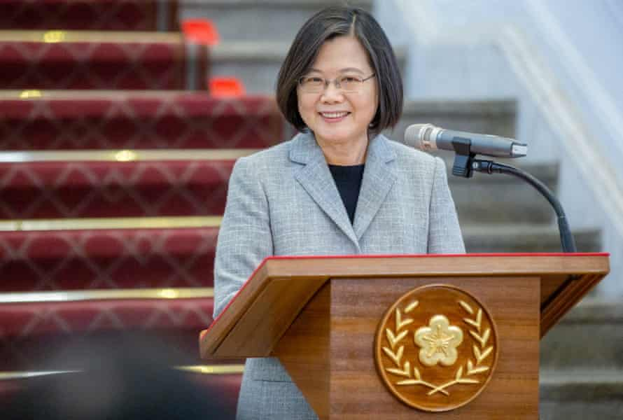 Taiwan's President Tsai Ing-wen speaking at a news conference in Taipei, Taiwan, 01 April 2020. Tsai announced that Taiwan will donate 10 million face masks to foreign countries to help their