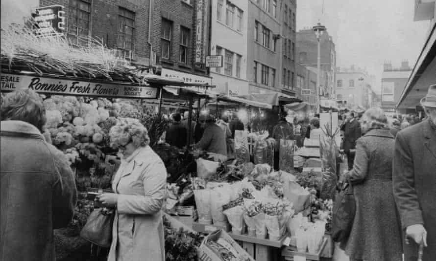 General View Of Berwick Street Market Soho London