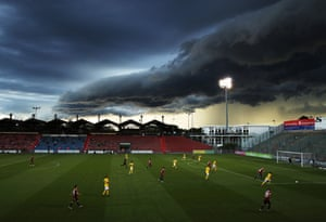 Football match overshadowed by cloud