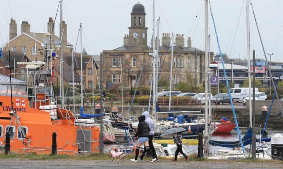 People walk past the Marina in Hartlepool