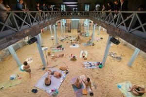 Sun & Sea (Marina) in the Lithuanian pavilion at Venice Biennale 2019