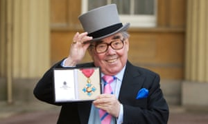 Ronnie Corbett receives his honour for services to entertainment and to charity at Buckingham Palace.