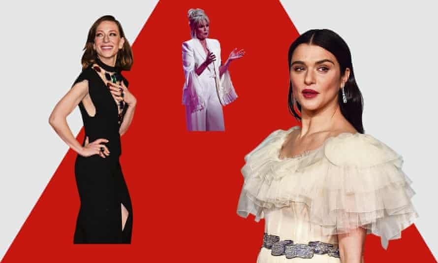Cate Blanchett, Joanna Lumley and Rachel Weisz at the Baftas.