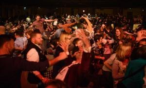 Crowd chaos at Taylor Mac.
