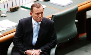 Tony Abbott during House of Representatives question time at Parliament House in Canberra, 23 June, 2015.