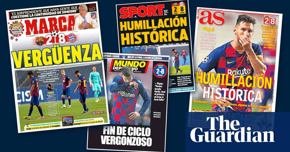 Shameful end of an era: Spanish press reacts to Barcelonas battering