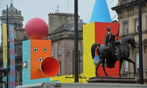 European Championships Glasgow 2018 branding is seen in George Square