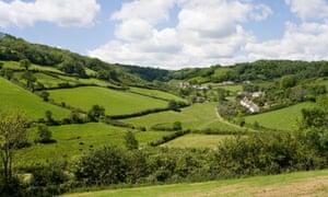 The village of Branscombe, Devon