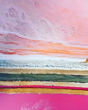 Pink Lake by Leigh Miller - Australia