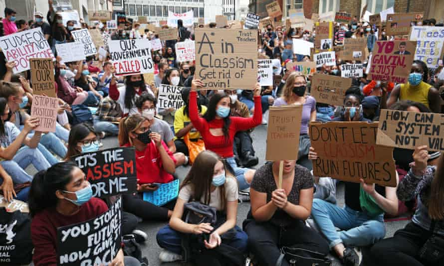 A-level results protest