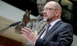 Martin Schulz speaks during a press conference