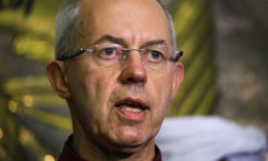 Archbishop of Canterbury Justin Welby speaks during a news conference