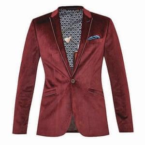 Red velvet jacket, Ted Baker