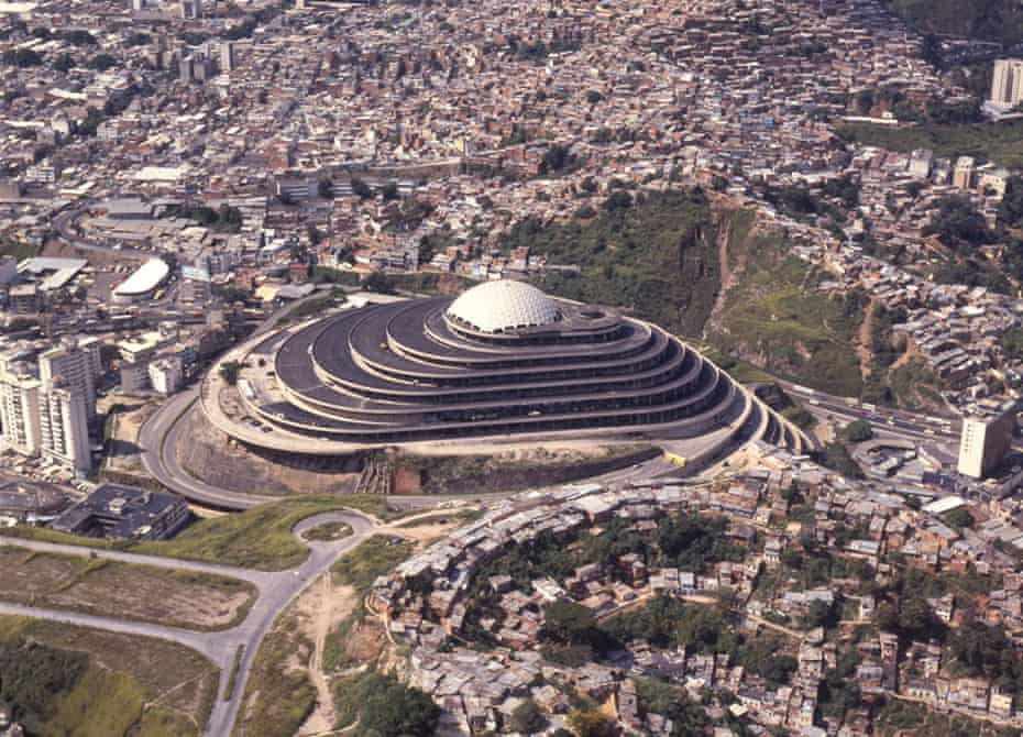 El Helicoide seen from the air