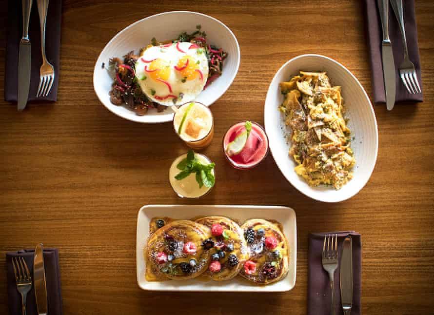 Brunch dishes at Padrecito, San Francisco.