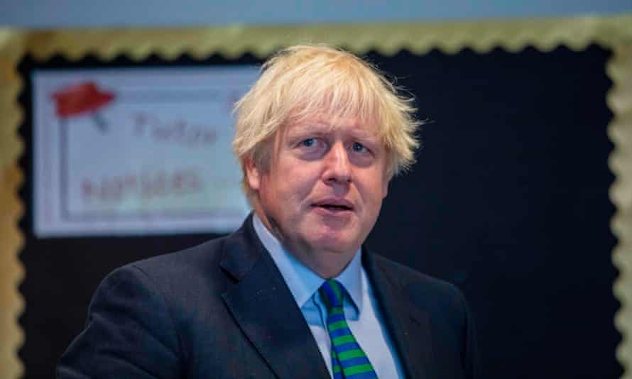 The prime minister visiting Castle Rock school in Coalville, Leicestershire, on 26 August.