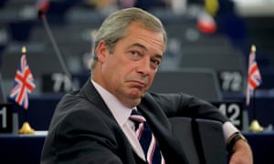 Nigel Farage pictured in the European parliament