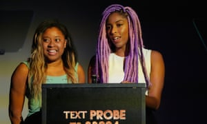 Phoebe Robinson and Jessica Williams attend the Golden Probe awards at Le Poisson Rouge on October 2, 2016 in New York City.