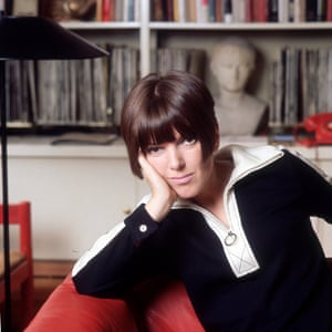 Circa 1965: Fashion guru and designer Mary Quant at her home