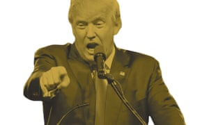 Revolting … Trump, in Pantone 448C, the world's most disgusting colour