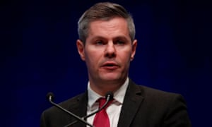 Derek Mackay makes a speech during the SNP autumn conference in Aberdeen on 14 October 2019.