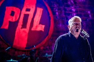 John Lydon performing with PiL in October 2015.