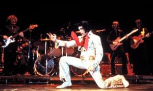 Elvis on stage, 1970.