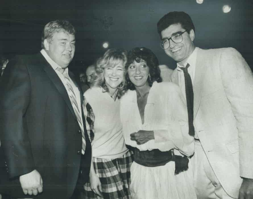 The stars of Second City at a reunion in 1983